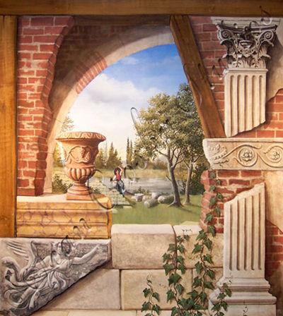 Superior Gallery 1 Mural, Murals, Fine Art, Wall Murals, Trompe Lu0027oeil By Sean  Crosby NJ